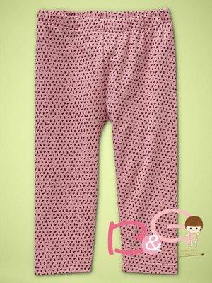 【B& G童裝】正品美國進口GAP Pretty printed leggings小碎花圖樣彈性長褲12-18mos