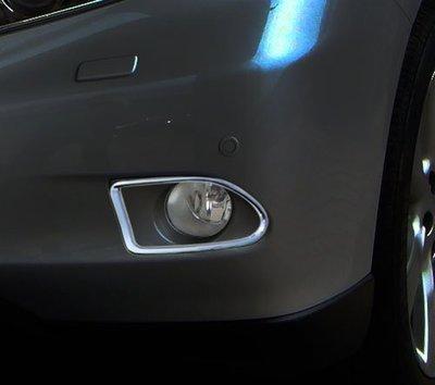 ~圓夢工廠~ Lexus RX350 RX450h 2009-2012 鍍鉻霧燈外框 前保桿鍍鉻飾框貼