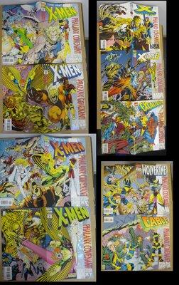 """美漫 X-Men """"Phalanx Covenant"""" Mini-Series 9 books 1994 Marvel Wolverine"""