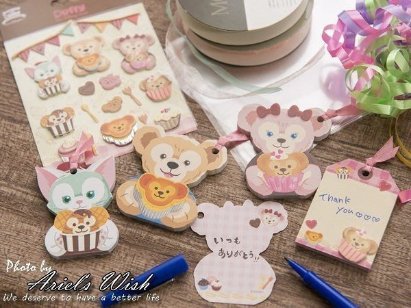 Ariel's Wish-日本東京迪士尼Duffy Shelliemay達菲熊雪莉玫傑拉東尼情人節書籤便條紙禮物卡片現貨