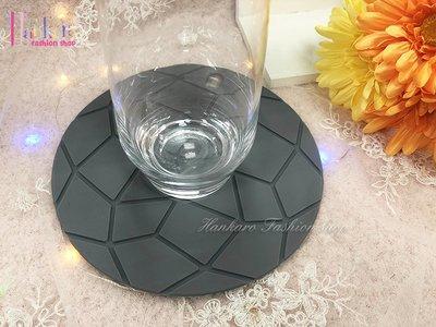 ☆[Hankaro]☆北歐創意幾何圖案圓形矽膠防滑杯墊