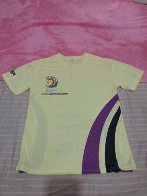 全新 淺黃色排汗T恤 尺寸:S 胸圍44cm 衣長64cm 售$100(含運)