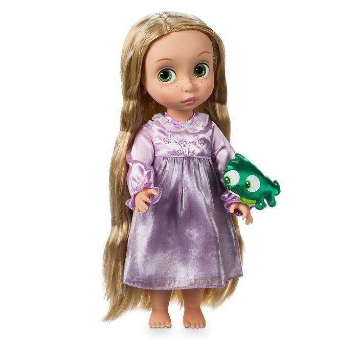 現貨【迪士尼 Disney】全新美國正品 手繪Q版娃娃 長髮公主 Rapunzel【高約40公分】盒損