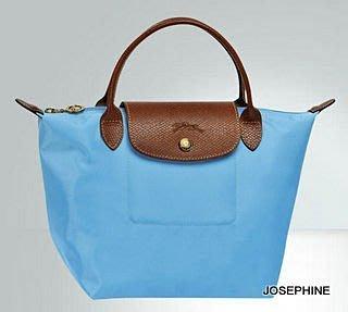 喬瑟芬【LONGCHAMP】出清~2014春夏 蔚藍072 折疊系列 小型 *1621089 短柄 手提包