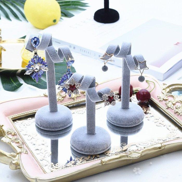 聚吉小屋 #麻布耳環展示架 首飾收納耳釘架 狗耳朵三件套首飾櫥窗道具擺件
