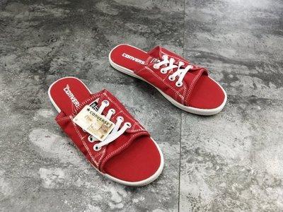 ☆LION販殼☆ CONVERSE All Star Cutaway EVO 紅色 拖鞋 帆布鞋