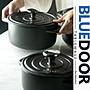 BlueD_ 美國FDA認證 雙耳琺瑯鍋 2.8L 煲湯砂...