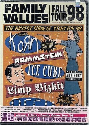 *【絕版品】FAMILY VALUES FALL TOUR 98` //98另類家庭價值觀98`巡迴演唱會~美版 DVD