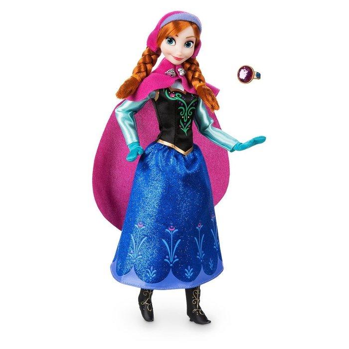 【100%美國迪士尼正品】Disney Princess 冰雪奇緣 Anna 安娜公主 戒指 芭比娃娃 可動玩偶 聖誕節
