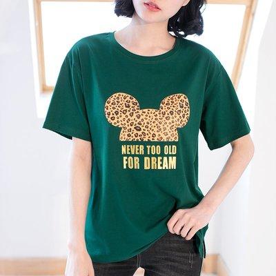 =EF依芙=【新款+免運】正韓T恤 米奇圖案短袖T恤 名韓妮8628
