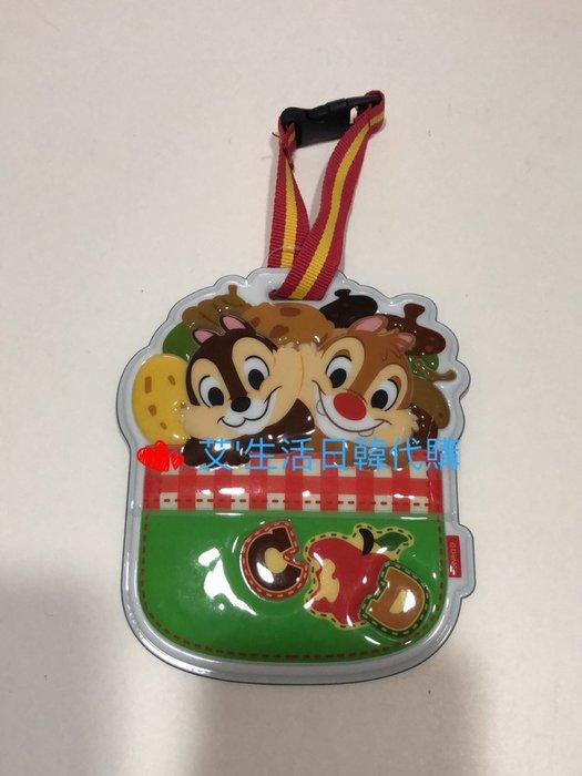 代購現貨  日本迪士尼 奇奇蒂蒂 造型防水行李吊牌 票卡套