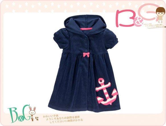 【B& G童裝】正品美國進口Gymboree  船錨圖樣寶藍色泳裝罩衣18-24mos,3yrs