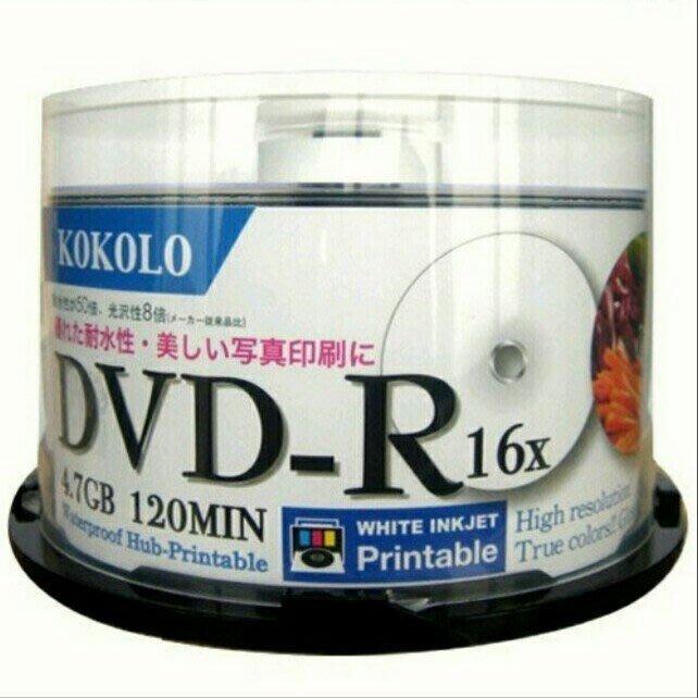 【 5760dpi高解析】亮面滿版Printable可印式A級DVD-R16X (50片)4.7GB/240MIN