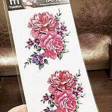 【萌古屋】紅色花朵 - 男女防水紋身貼紙原宿刺青貼紙FF-019 K19
