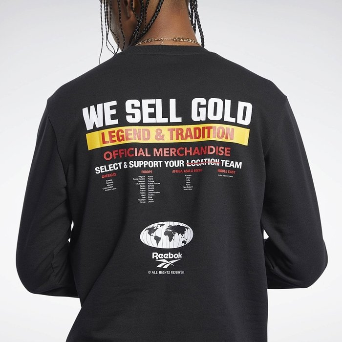 限時特價南◇2020 12月 Reebok WE SELL GOLD 長袖大學TEE FM3968 黑色 長TEE 衛衣