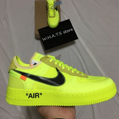 The Ten Off White X Nike Force 1 Volt 黃