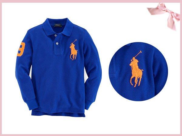 【童夢屋】RALPH LAUREN藍POLO衫 .大馬上衣12.18.24M【8817857535】~10