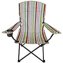 休閒椅 摺疊椅 DJ-6503 探險家條紋扶手休閒椅 露營用品【同同大賣場】