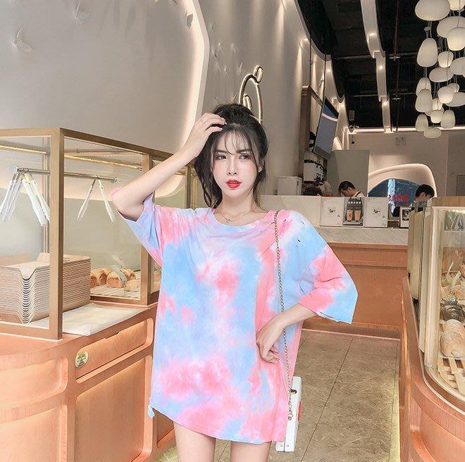 FINDSENSE G6 韓國時尚潮流 寬鬆休閒港風短袖T恤女裝上衣網紅中長款半袖T恤