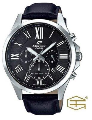 【天龜】CASIO EDIFICE 時尚經典 三針三眼錶款  EFV-500L-1A