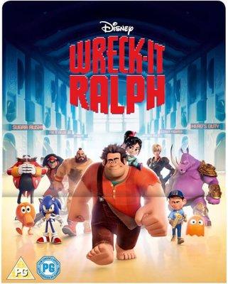 毛毛小舖--藍光BD 無敵破壞王 3D+2D幻彩限量鐵盒版 Wreck-It Ralph