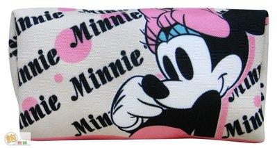 Disney 迪士尼 米妮 帆布化妝包 ♥ 米老鼠 米奇 維尼 維尼熊 史迪奇 帆布 化妝 筆袋 收納 萬用包【飽飽鋪】 台北市