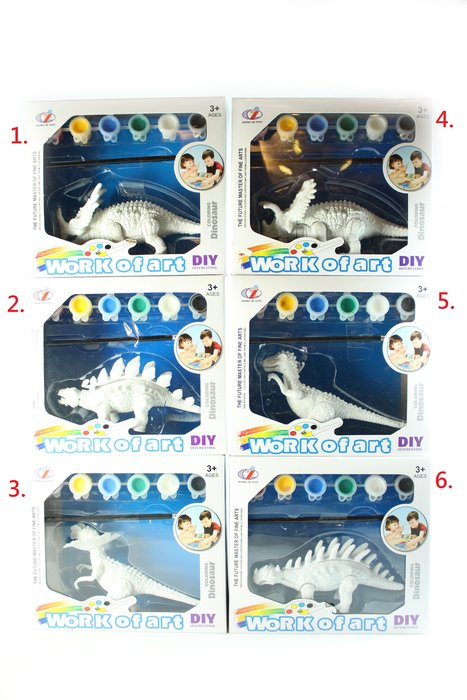 佳佳玩具 ----- 彩繪恐龍 DIY玩具 安全環保 恐龍模型 安全玩具 【50Q9899-155A】