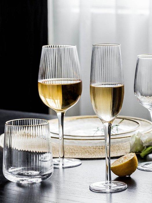 SX千貨鋪-金邊玻璃酒杯無鉛玻璃高腳杯紅酒杯葡萄酒杯家用酒具套裝#玻璃杯#酒杯#水杯#茶杯#杯子套裝