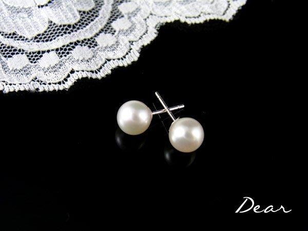 ◎【 Dear Jewelry 】◎特價! 特價!  正圓無瑕天然珍珠耳環 有氣質 生日禮物 送情人 -------免運