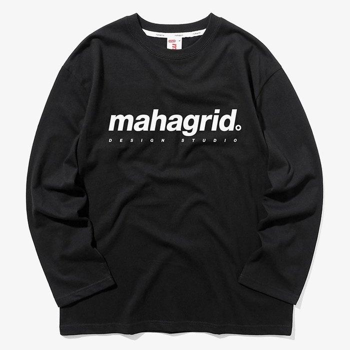 【QUEST】MAHAGRID - ORIGIN LOGO LS TEE 基本LOGO 薄長T 黑