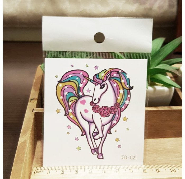 【萌古屋】獨角獸CD-021 - 防水紋身貼紙刺青貼紙K12