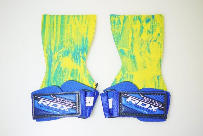 【神拳阿凱】RDX 英國 WAN-W7U 雙向勾片型健身重訓 拉力帶 助握帶 倍力帶 迅敏款 橡膠 藍色(免運)