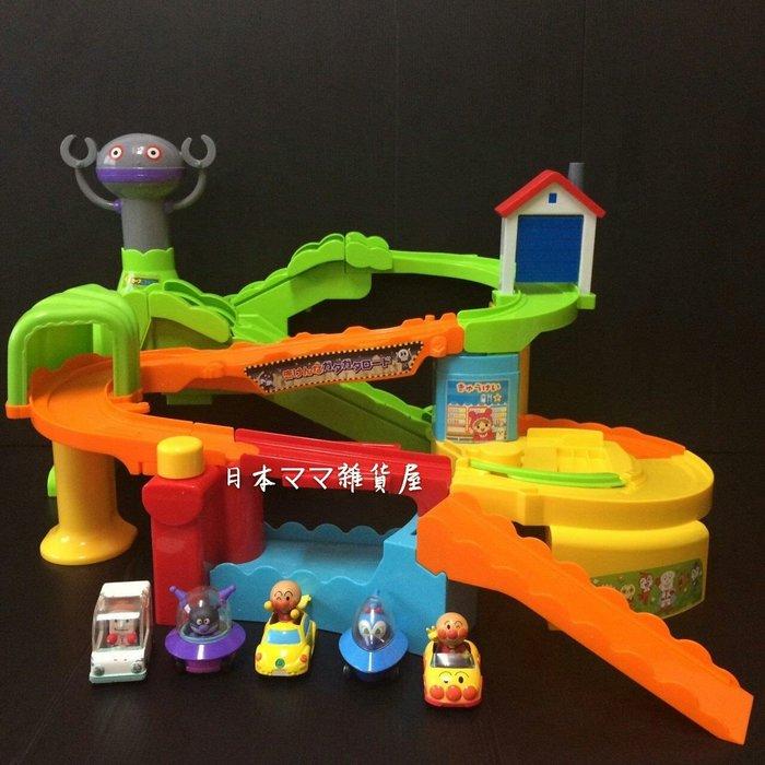 麵包超人GOGO車電動軌道組/電動爬坡軌道組~日本帶回~「二手品含盒」
