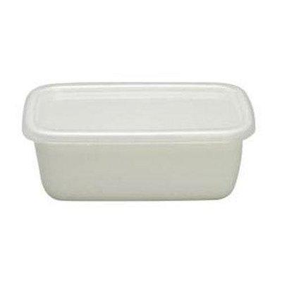 【東京速購】日本製 野田琺瑯 長方形 保鮮盒 琺瑯盒 深型S (附保鮮蓋)