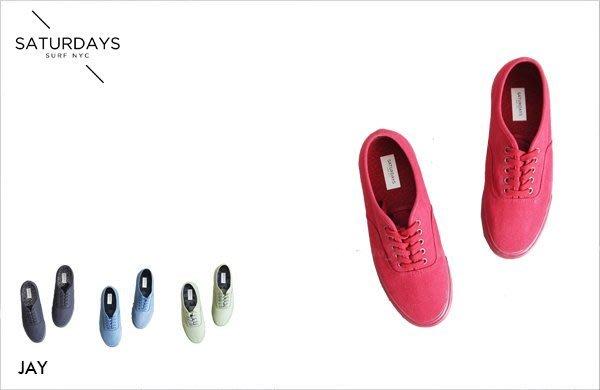 WaShiDa【000238】SATURDAYS NYC 美國品牌 Jay 滑板 帆布 單色 休閒鞋 現貨 SALE