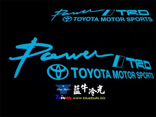 【藍牛冷光】TOYOTA TRD 式樣冷光貼紙 煞車燈 60CM*10CM 發光圖樣文字皆可加價修改訂做