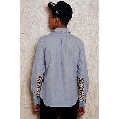 特價「NSS』ADIDAS ORIGINALS BLUE LEOPARD GRAPHIC SHIRT 豹紋襯衫