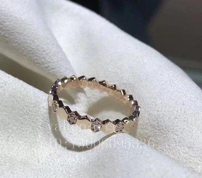 二手正品Chaumet 尚美巴黎 BEE MY LOVE系列 18K玫瑰金鑽石戒指 081933 現貨