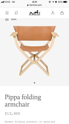 Hermes Pippa Folding Armchair (Scaled model)