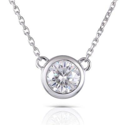 0.5克拉時尚18K金鎖骨鑽石項鍊 (...