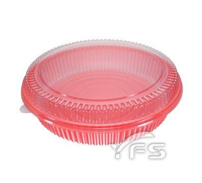 K200-5外燴餐盒(紅)(PET蓋)(2200ml)(3.5台斤) (煲湯鍋/魚翅羹/佛跳牆/大閘蟹/熱炒/油飯)
