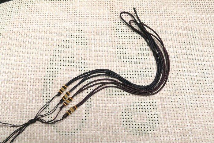 518中國結綁繩.扣頭專賣--中國結綁繩--N65   翡翠玉墜 掛件綁繩  ( 咖啡色,黑色) 買10條送1條