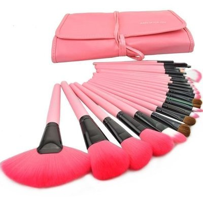 【愛來客 】粉紅色專業24件MAKE-UP FOR YOU彩妝刷具組只要400元 乙丙級考試批發非專櫃品