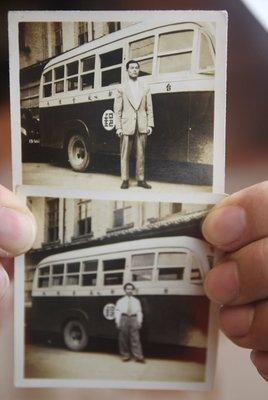 42年-台北郵局-自動車-行動郵局車-原版相關-老照片-兩張一起賣(免運費~歡迎自取確認)