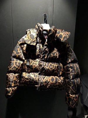 Moncler 豹纹短款羽绒服