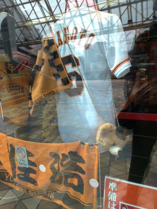 貳拾肆棒球--日本帶回日職棒讀賣巨人熊熊絨毛票卡收納包零錢包零錢袋
