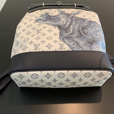 LV Steamer 犀牛 動物圖紋後背包
