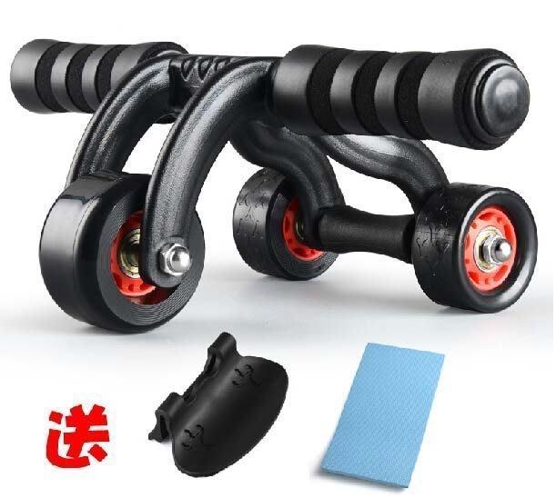 【易發生活館】新品健腹輪 腹肌輪健身器材家用練腹肌三輪健身器健身輪運動滾輪巨輪 新款三輪 人體設計 帶軸承鍵腹輪