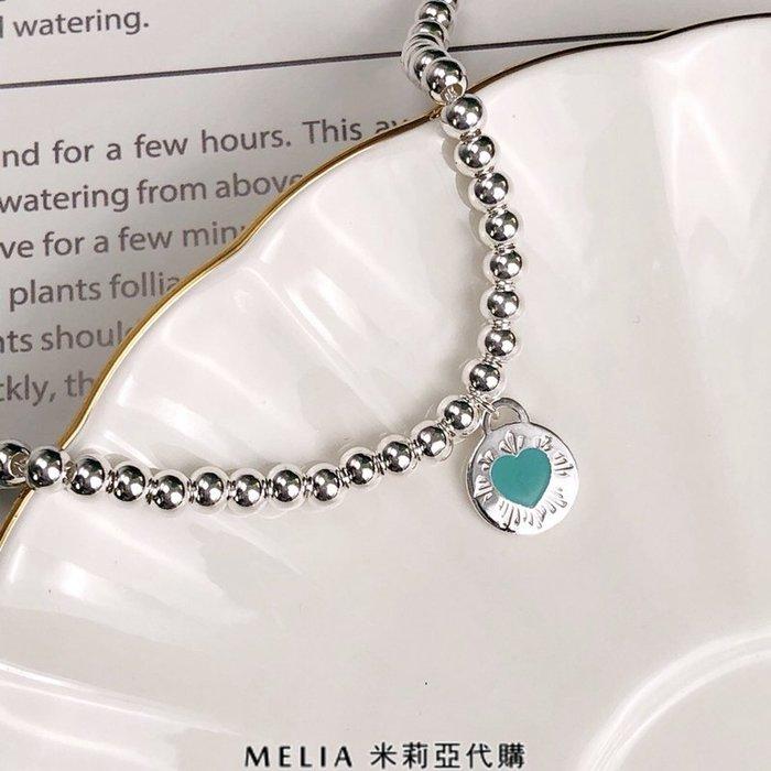 Melia 米莉亞代購 Tiffany&Co. 925純銀 2018Sss Tiffany 蒂芙尼 手鍊 圓珠 藍色圓愛