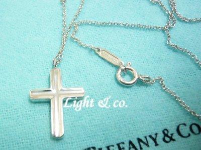 【Light & co.】二手真品 TIFFANY & CO 925純銀 十字架 水滴 項鍊 經典款 十字
